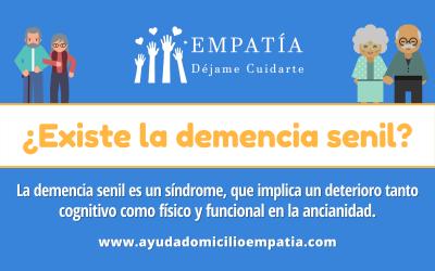 La demencia senil es un síndrome